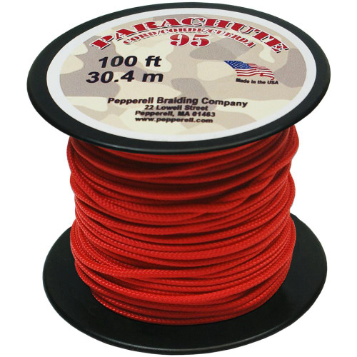 Parachute Cord – 95 – 1.9mmX100' – Red