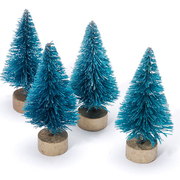 Sisal Tree - Green with Frost - 3 inches - 10 pieces - Big Value