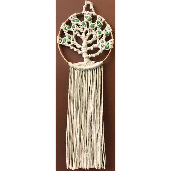"Design Works/Zenbroidery Macrame Wall Hanging Kit 8""X24"""