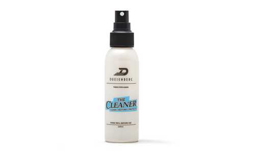 THE CLEANER removes all dirt and grime from the finish and metal parts of your instrument.  THE CLEANER provides a water and dirt repellent layer and protects your instrument from fingerprints and sweat. It's also biodegradable. Contains: 100ml bottle