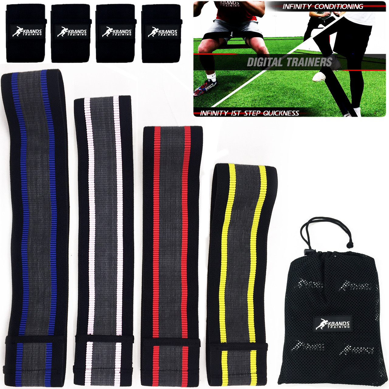 Infinity Flex Fabric Loop Hip Bands (1st Step Quickness & Conditioning)