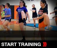 Hurdler Cheer training