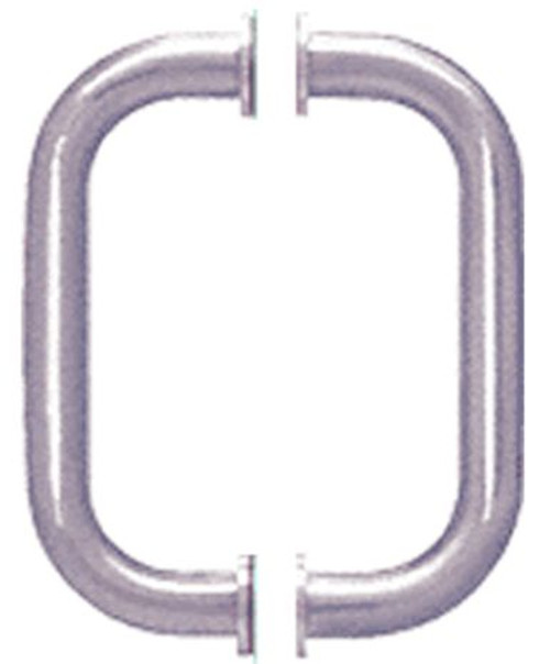 D Profile  Back to Back Door Handles  - 8 inch Brass Tube with washers - BN