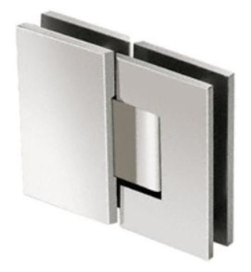 180 degree Glass to Glass  Heavy Duty Hinge - SQ - CP