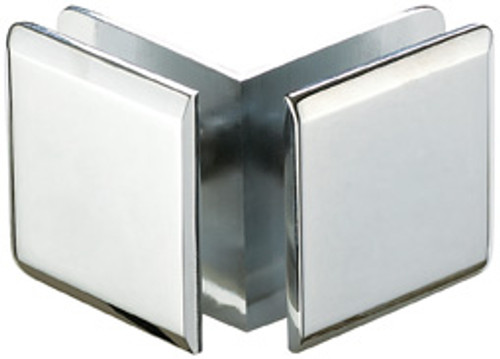 90 Degree Glass to Glass  51x51  Larger Glass Clamp - Bevelled - BN