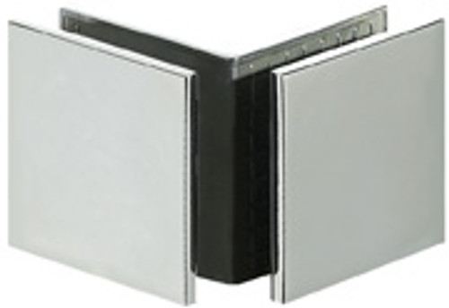 90 Degree Glass to Glass  51x51 Square Edge Larger Glass Clamp - SQ - BN