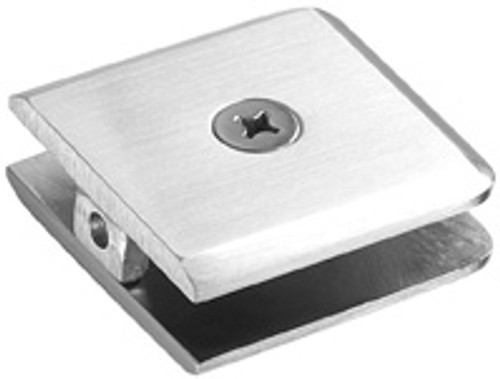 Glass Clamp 1 hole 51x51 Bevelled Edge Larger Glass Clamp - Bevelled - BN