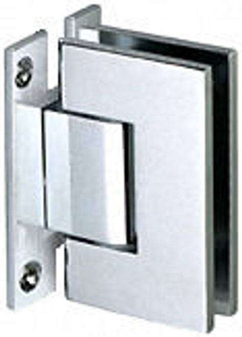 """Glass to Wall """"H"""" Back Plate Regular Weight Hinge - SQ - cp"""