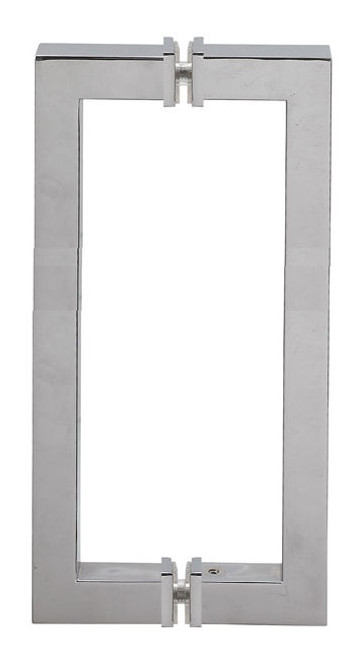 Square tube Square angle  Back to Back Door Handles  - 12 inch,19x19mm  Stainless Steel Tube with washers
