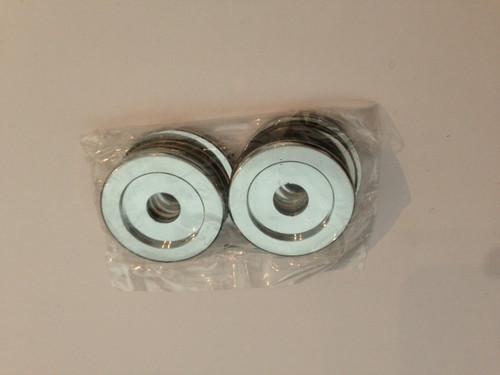 """Washers for  """"D""""  and Mitred Handles and towel bars Set of 4 with Clear Hard PVC washers"""