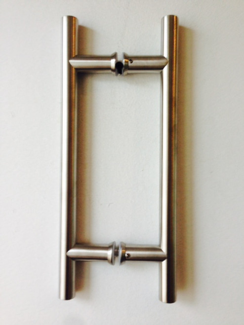 """Ladder Pull 8x8 Brushed Stainless (12 inch overall x 3/4"""" (19mm))"""