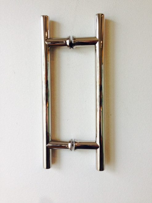 Ladder Pull 8x8 Polished Stainless (Like Chrome Polish) Overall 12 inches x 3/4