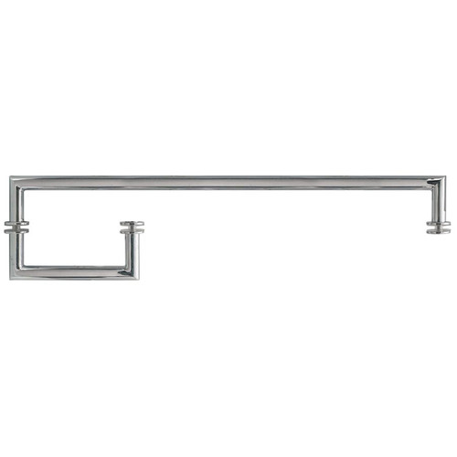 Mitred 6x18 chrome Handle+Towel Bar Brushed Stainless- 6x18 x3/4 With Washers