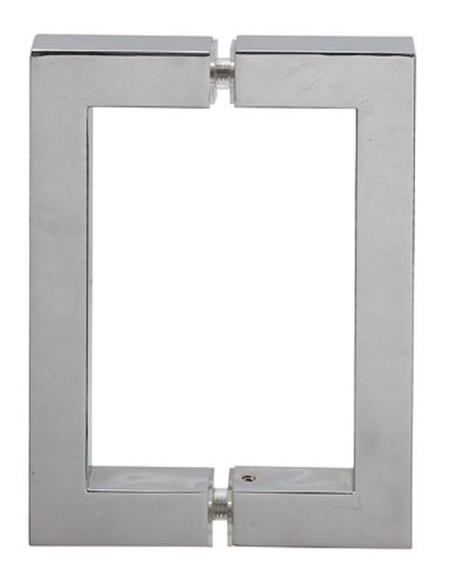 Square 8x8 handle chrome polish