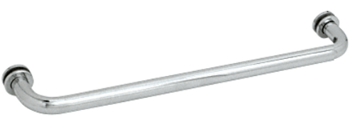Plain D profile One sided Towel Bar 24 inches -with metal washers -CP
