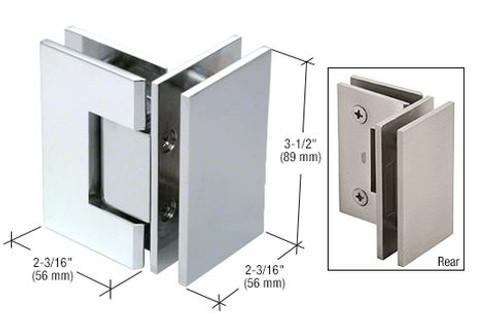 90 degree Glass to Glass Regular Weight Hinge - SQ - cp