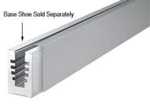 cladding for Aluminum base shoe - brushed stainl;ess finish - (can be powder coated at extra charge)