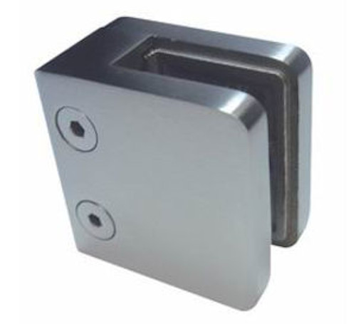 RAILING CLAMP FOR 8,10 AND 12MM GLASS FOR FLAT POST - ALSO AVAILABLE WITH ROUND TOP AND FOR ROUND POST