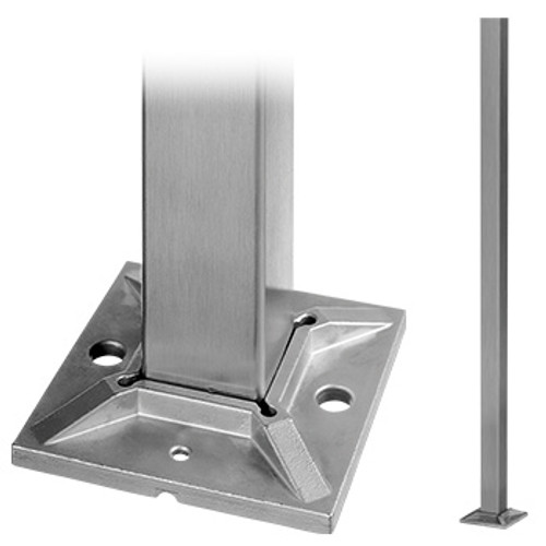 RAILING POST SQUARE BASE ONLY