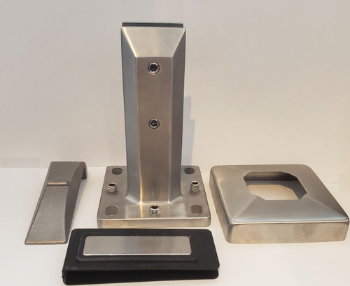 SPIGOT SURFACE MOUNT 6.5 HIGH BRUSHED STAINLESS