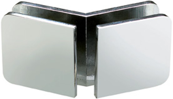 135 Degree Glass to Glass Clamp  Rounded Edge 44x44 Small Clamp - Rounded Square - cp
