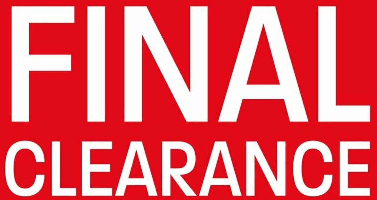 Clearance - Final Sale!