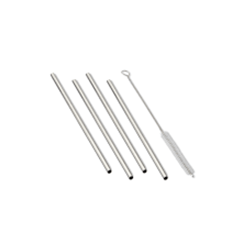 Glass Reusable Drinking Straws - Set of 4 with Brush