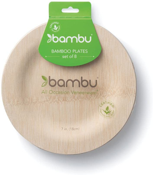 "Bamboo Plates - 7"" Pack of 8"
