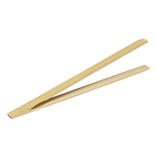 "10"" Bamboo Tongs"