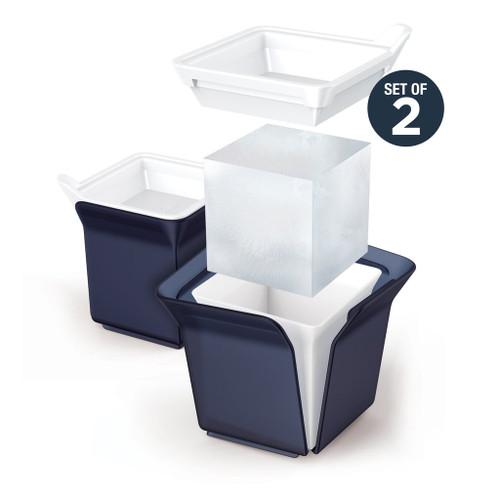 Jumbo Silicone Ice Cube Molds Set of 2