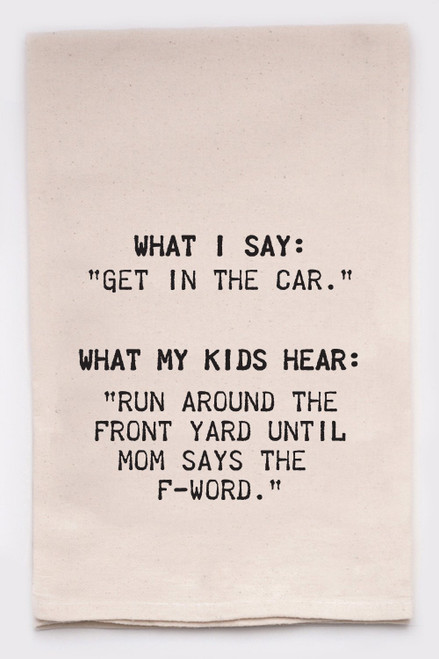 Funny Dish Towel - Get In The Car
