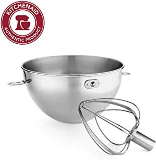 KitchenAid 3 Quart Stainless Steel Bowl and Wire Whip