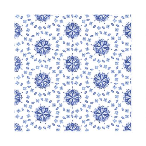 """Le Cadeaux Moroccan Blue Tablecloth 69""""x 98"""""""