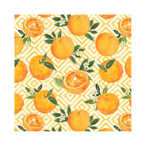 "Le Cadeaux Fleur D'Orange Tablecloth 69""x120"""