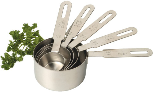 Stainless Steel 5 -Piece Measuring Cup Set