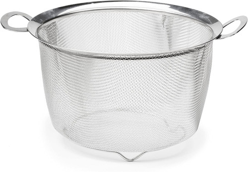 4 Quart Wide Rim Mesh Basket