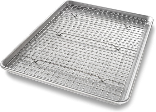 USA Half Sheet Baking Pan and Rack Set
