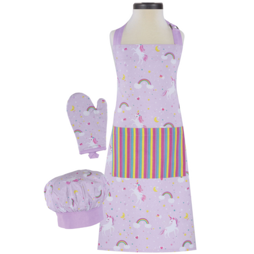 Rainbows & Unicorns Deluxe Youth Apron Boxed Set