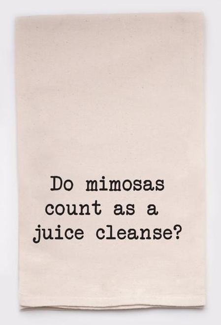 Funny Dish Towel - Mimosas