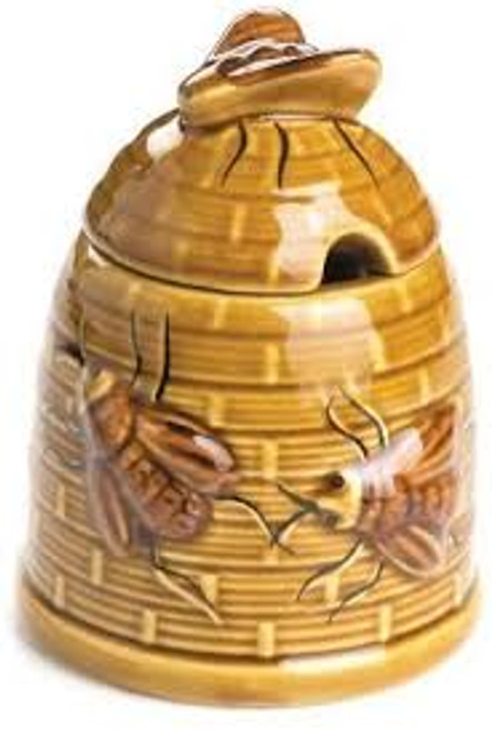 Ceramic Beehive Honey Pot