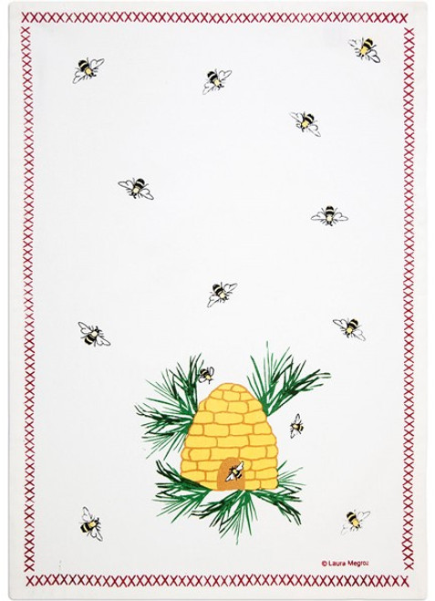 Honey Bee Dish Towel