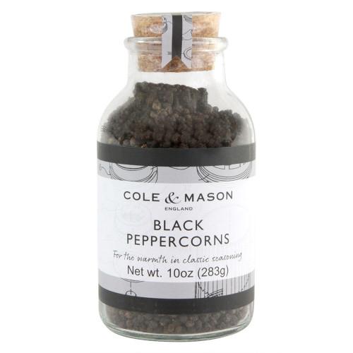 Whole Black Peppercorns - 10 oz Jar