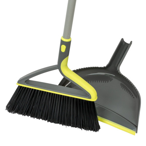 Large Angle Broom and Dustpan Set