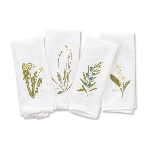 Flowers Flour Sack Napkin Set