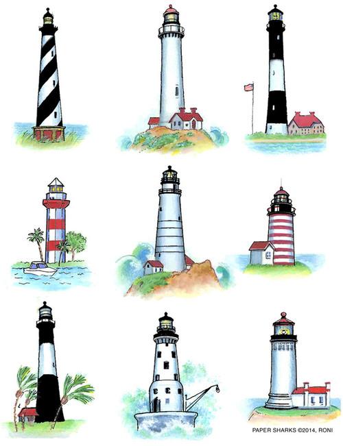 Flour Sack Towel - Lighthouses
