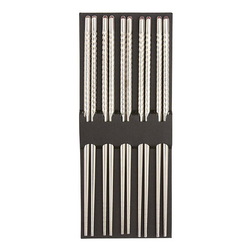 Stainless Steel Chopsticks - 5 Pair Set