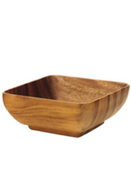 """Acacia Wood 10"""" Square Bowl"""