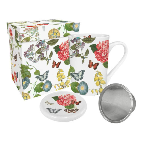Tea Mug w/Lid & Strainer