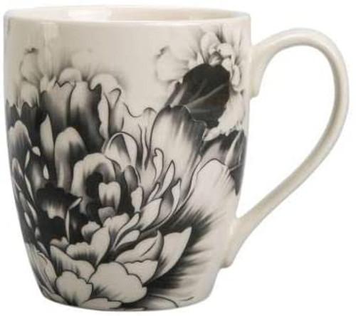 Grey Peony 12oz. Mug