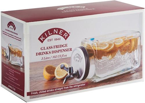 Glass Fridge Drinks Dispenser